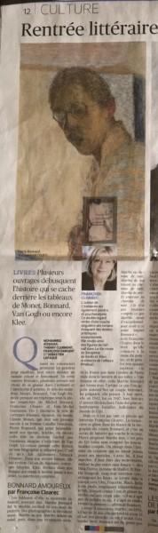 Le Figaro Littéraire, 25 août 2016